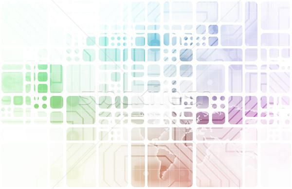 Software veiligheid technologie gegevens kunst abstract Stockfoto © kentoh