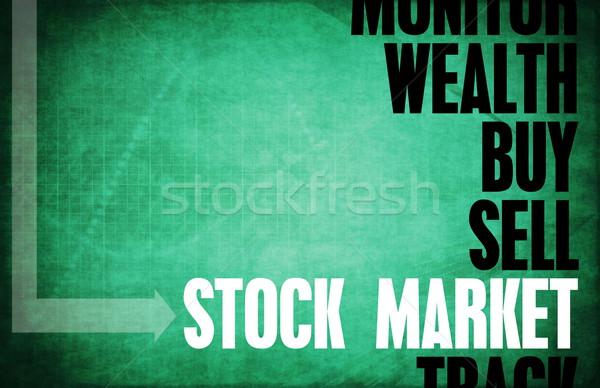 Beurs kern principes business retro markt Stockfoto © kentoh