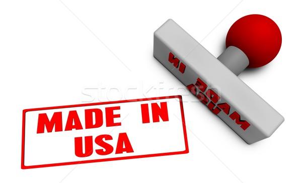 USA bélyeg kotlett papír 3D gyümölcsök Stock fotó © kentoh