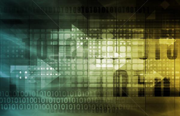 сеть наблюдение безопасности бизнеса аннотация технологий Сток-фото © kentoh