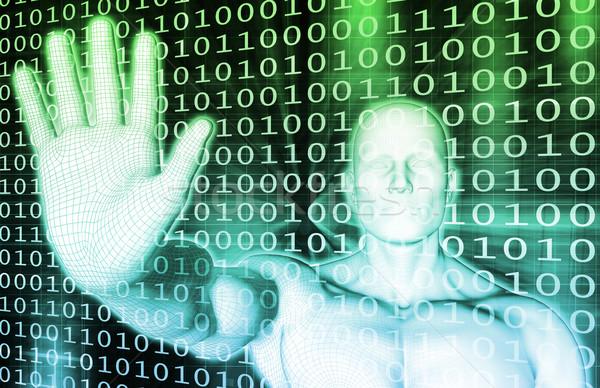 Technológia megoldások üzlet számítógép hálózat ipar Stock fotó © kentoh