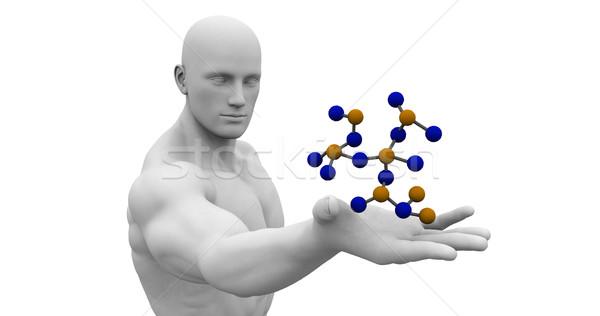 Ciência tecnologia 3D genético atômico abstrato Foto stock © kentoh