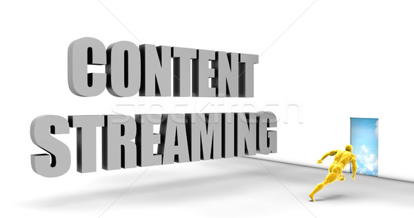 Stockfoto: Inhoud · streaming · snel · track · direct