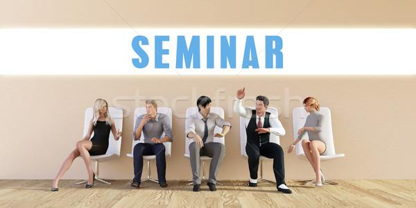 Negócio seminário grupo reunião homem fundo Foto stock © kentoh
