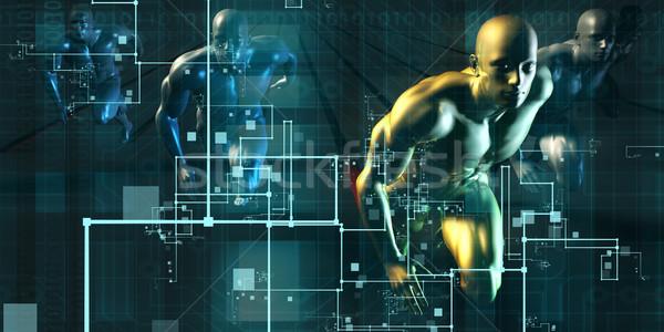 Digital revolução raça novo consumidor tecnologia Foto stock © kentoh