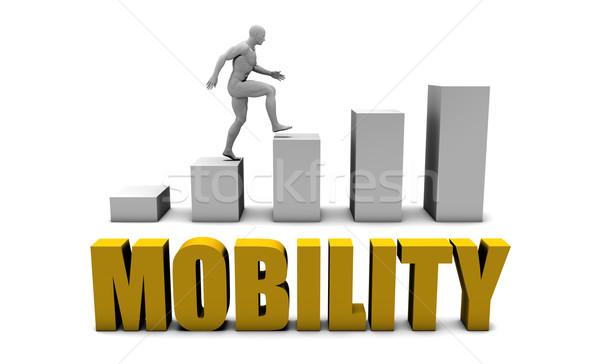 Hareketlilik iş süreç kurumsal altın Stok fotoğraf © kentoh