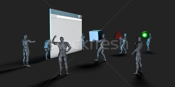 Utilisateur interface ui design graphique web bâtiment Photo stock © kentoh