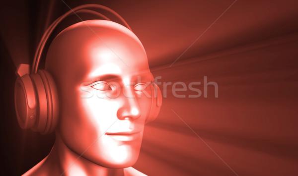 дискотеку Техно вечеринка электронных музыку искусства Сток-фото © kentoh