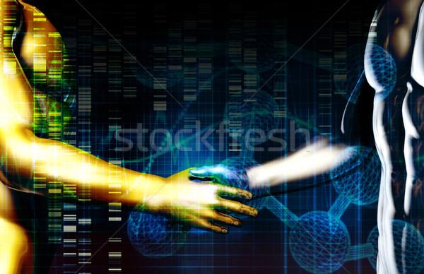 Negócio integração rede mãos internet tecnologia Foto stock © kentoh
