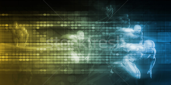 Hatékony csapatmunka technológia kreatív ötlet illusztráció Stock fotó © kentoh