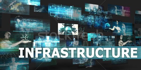 Infrastruktura prezentacji technologii streszczenie sztuki Internetu Zdjęcia stock © kentoh