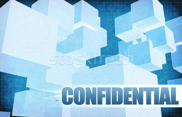 Confidential on Futuristic Abstract Stock photo © kentoh