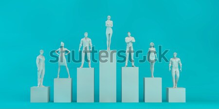 Personas pie gráfico de barras financieros gráfico de barras tabla Foto stock © kentoh