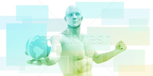 Twórczej technologii projektu realizacja tle www Zdjęcia stock © kentoh