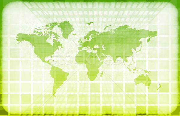 Гранж Мир Информационные технологии карта аннотация дизайна Сток-фото © kentoh