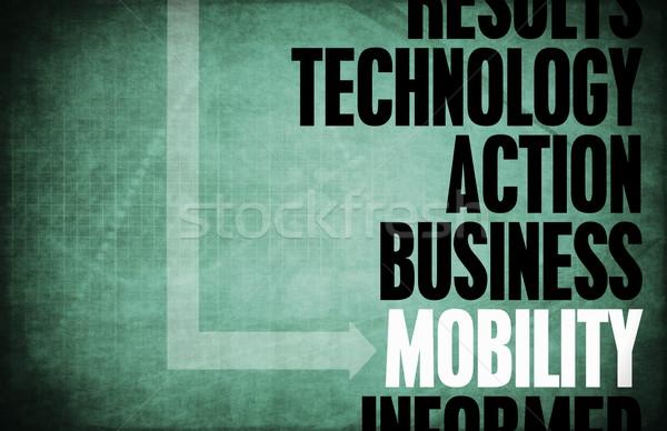 Mobilité core principes affaires mobiles rétro Photo stock © kentoh