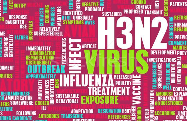 Stock photo: H3N2