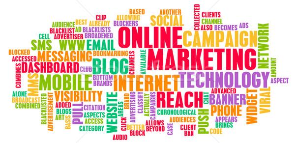 Интернет маркетинг марка технологий искусства компьютер интернет Сток-фото © kentoh