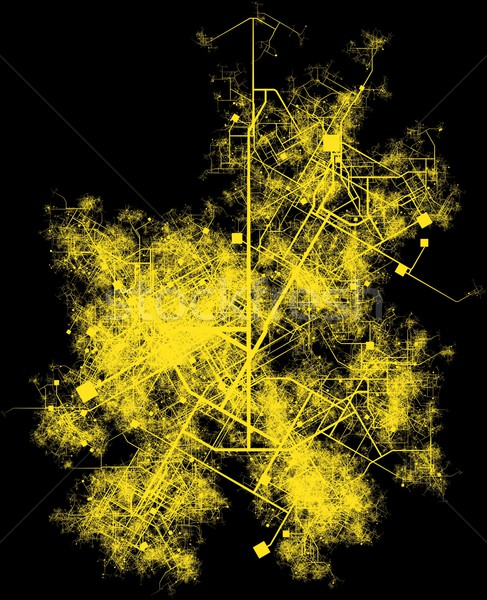 Città infrastrutture pianificazione strade edifici urbana Foto d'archivio © kentoh