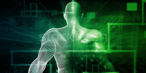 Ludzi implant technologii komputera ciało zdrowia Zdjęcia stock © kentoh