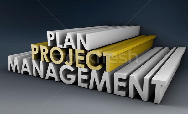 プロジェクト 計画 管理 3D フォーマット チーム ストックフォト © kentoh