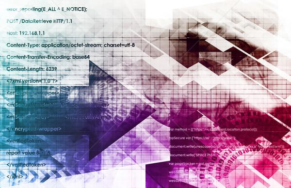 Medici biologia tecnologia arte abstract texture Foto d'archivio © kentoh