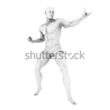 Superhero Pose Stock photo © kentoh