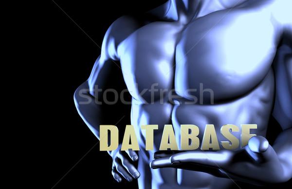 Database zakenman man achtergrond zakenman Stockfoto © kentoh