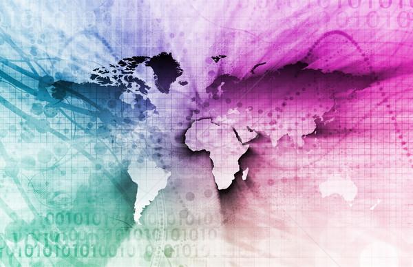 Global de negócios internacional corporativo textura mapa fundo Foto stock © kentoh