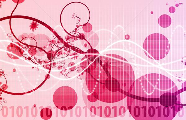 Orvostudomány technológia futurisztikus textúra orvosi háttér Stock fotó © kentoh