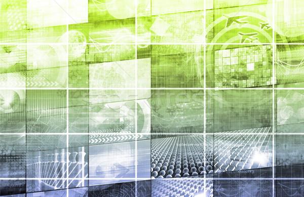 Virtual tecnología datos red corriente arte Foto stock © kentoh
