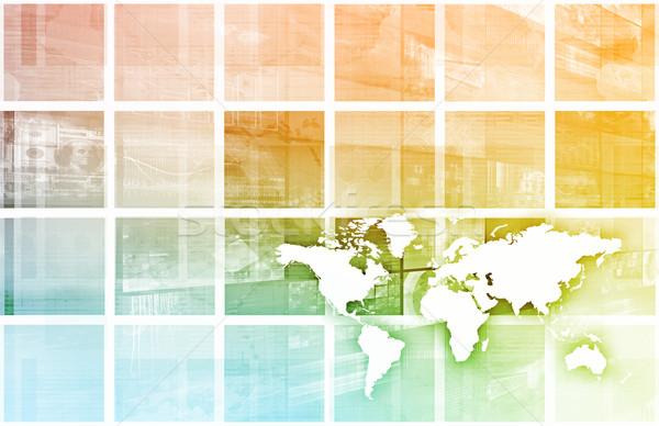 Moderno digitale economia globale lavoro scala Foto d'archivio © kentoh