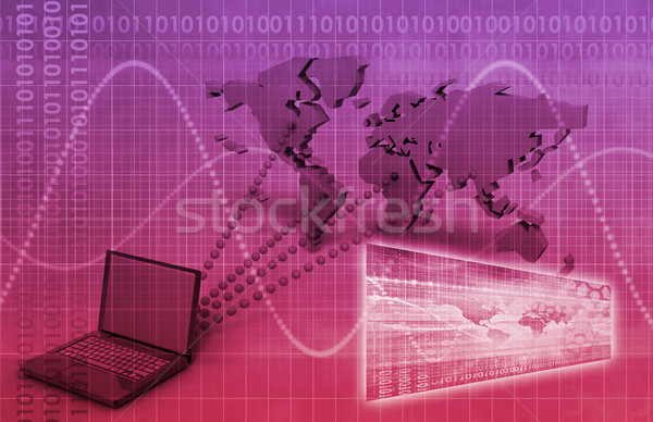 Worldwide Computer Connectivity Stock photo © kentoh