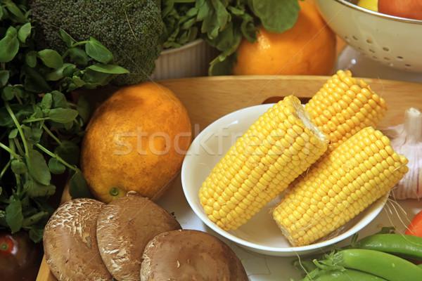 Legumes freqüentemente usado cozinhar indústria chef Foto stock © kentoh