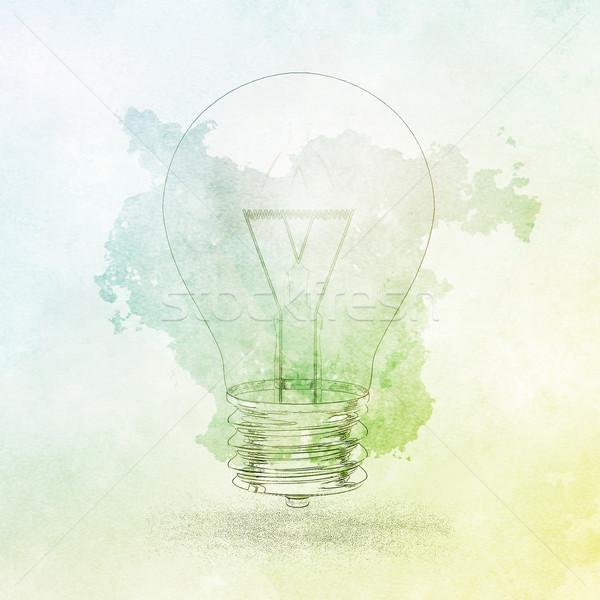 Criatividade negócio inovação energia sucesso cartaz Foto stock © kentoh