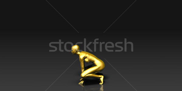 The Crouch Yoga Pose Stock photo © kentoh