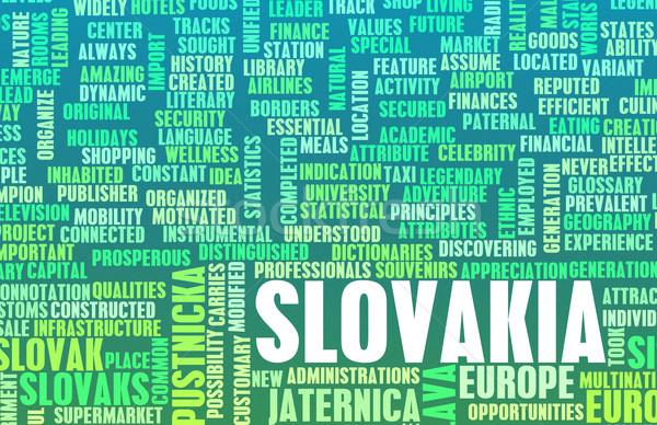 Slovakya ülke soyut sanat iş futbol Stok fotoğraf © kentoh
