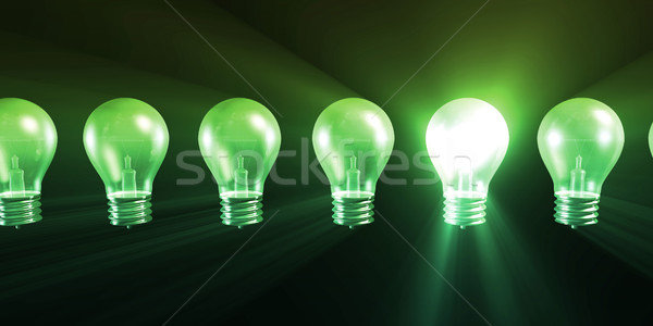 Foto stock: Negócio · idéia · lâmpada · sucesso