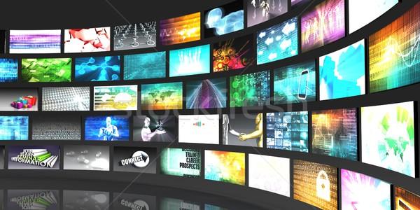 Multimedialnych technologii cyfrowe informacji działalności Zdjęcia stock © kentoh