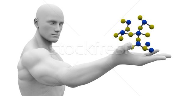Ciencia tecnología 3D genético atómico resumen Foto stock © kentoh