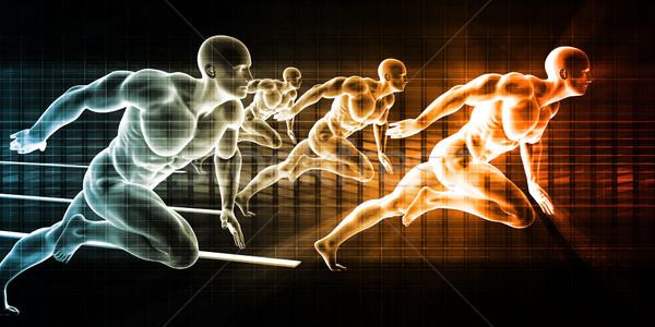Tecnología de la información datos red oficina fondo empresarial Foto stock © kentoh