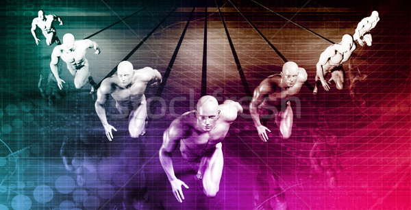 Futuristische technologie business tech presentaties internet Stockfoto © kentoh