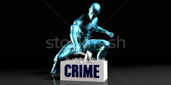 Get Rid of Crime Stock photo © kentoh
