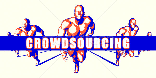 Crowdsourcing rekabet örnek sanat arka plan turuncu Stok fotoğraf © kentoh