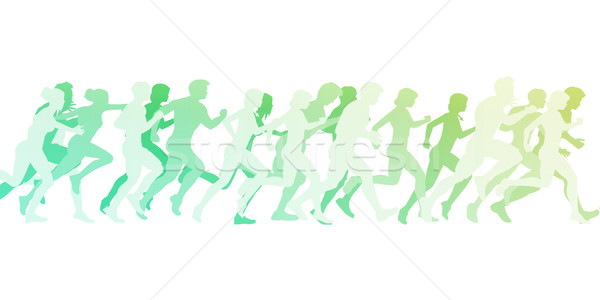 Cardio formación ejercicio grupo clase ilustración Foto stock © kentoh