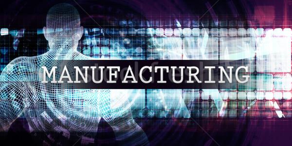 Fabrico indústria futurista negócio tecnologia médico Foto stock © kentoh
