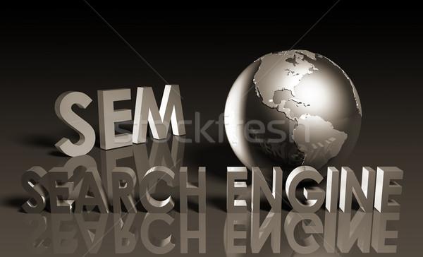 Zoekmachine marketing internet technologie communicatie Stockfoto © kentoh