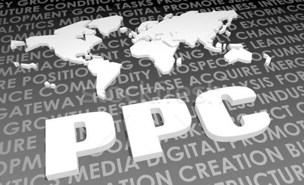 Ppc ipar globális szabvány 3D térkép Stock fotó © kentoh