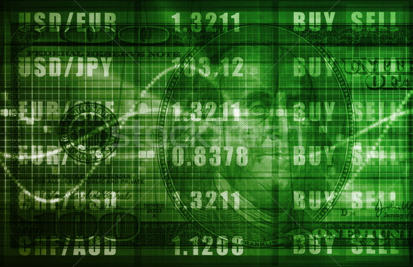 Forex handel online dollar grafiek business Stockfoto © kentoh
