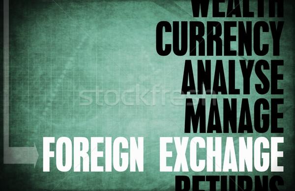Buitenlands uitwisseling kern principes business retro Stockfoto © kentoh